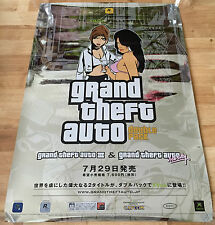 Grand Theft Auto 3 & Vice City GTA RARE XBOX 51.5cm x 73cm Japanese Promo Poster