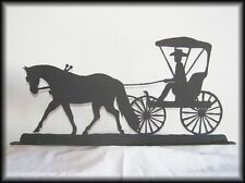 Horse & Buggy/ Carriage Western Metal Art Silhouettes