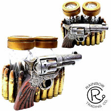 Western Gun With Bullets Salt and Pepper Shakers Western Decor