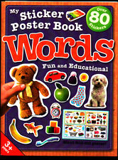 Learn Words - Sticker Poster Activity Book - NEW