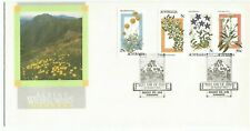 1986 Australia ⁜ Alpine Wildflowers ~ First Day Cover