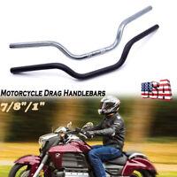 "1'' & 7/8"" Motorcycle Handlebars Drag Bars Iron For Harley Honda Yamaha Ducati"