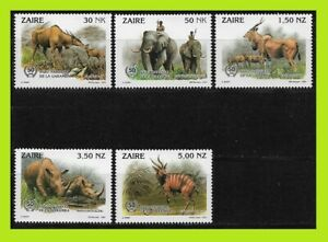Zaire 1993 Garamba National Park - Complet Series 5 Stamps - MNH