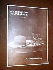 Pubblicità d'Epoca per collezionisti Borsalino fu Lazzaro + Automobile Chrysler