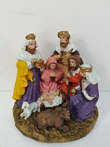 Nativity Scene Christmas Ceramic Figure Ornament Decoration Round