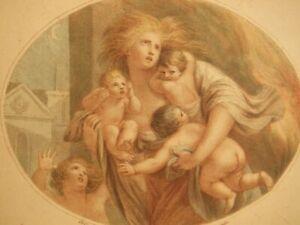 F. Bartolozzi after Giovanni Batista Cipriani antique stipple engraving 1700's