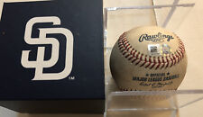 Angels vs. Padres 8/14/18 Eric Hosmer Barria Authentic Game Used Baseball