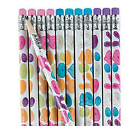 Pack of 12 - Easter Bunny Chick Pencils - Party Loot Bag Fillers