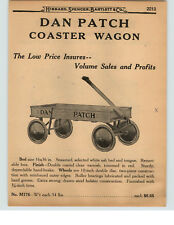 1927 PAPER AD Wood Record Mile Dan Patch Race Horse Coaster Wagon 1:53 Roll-A-Wa