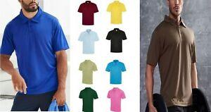 AWDis Cool Mens Short Sleeve Polo Shirt Sports Golf Running Gym Plain Polo Top T
