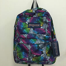NEW ARRIVAL! JANSPORT SUPERBREAK OMBRE FLORAL SCHOOL TRAVEL BACKPACK BAG SALE