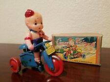 Vintage Yonezawa Tin Windup Circus Tricycle Made In Japan In Box Tin Toy Lot toy