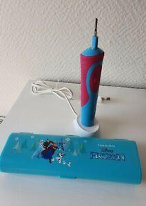Oral-B Stages Power Kids Disney Frozen, blau pink, gebraucht, mit Reiseetui