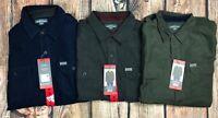 Eddie Bauer Cross Cut Cord Corduroy Mens Shirt Long Sleeve Green Blue Charcoal M