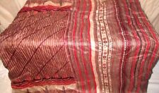 Maroon Cream Pure Silk 4 yd Vintage Antique Sari Saree daily deals Market #6HTST