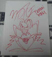 Finn Balor Signed Original Hand Drawn WWE Demon King Sketch BAS COA 11x14 Canvas