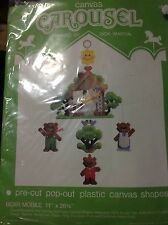 1981 Bear Mobile By Carousel Precut Pop Out Plastic Canvas Shapes Embroidery Kit