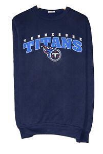 Tennessee Titans Majestic Vtg Men's Size M Blue Pullover Sweatshirt Canada euc