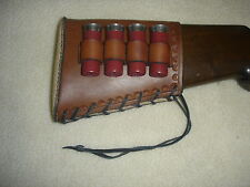 SASS LEATHER STOEGER SHOTGUN  BUTTSTOCK 4 LOOP 12 GA(20 day to get it done)1 PAD