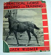 Vintage 1942 Illustrated Book Practical Horse Breeding Training Jack Widmer