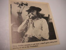 Doug Weston of The Troubadour on the telephone 1972 music biz promo pic/text