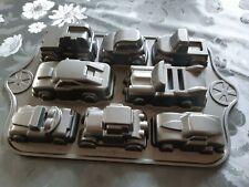 Nordic Ware USA Backform Gusseisen 8 Auto Cars Trucks Kindergeburtstag Geschenk