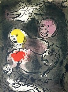 Marc Chagall, Prophet Daniel with lions 1956, Hand Signed Lithograph 25/150