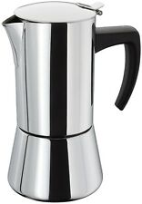 Stellar 6 Cup (400ml) Polished Stainless Steel Espresso Maker - New & Boxed
