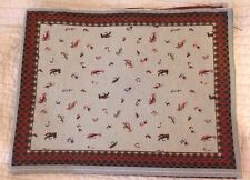 Fly Fishing Lures fish Tapestry Fabric Placemat Pillow top 4 Panels material