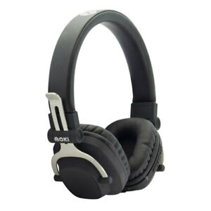 Moki Exo Double Wireless Bluetooth Headphones On Ear Cup Headband w/ Mic Black