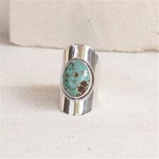 Women Vintage Silver Filled Turquoise Gemstone Gypsy Ring Wedding Bridal Jewelry