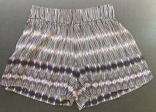 Witchery Women's Indigo Blue Stripe Culotte Shorts Size 10 NWOT