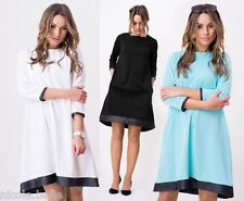 3/4 Sleeve Synthetic Casual Dresses Midi for Women