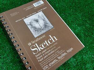 "Strathmore Sketch Spiral Paper Pad 5.5""X8.5""  Series 400 455-800 60 lb"