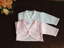 Baby Flower girls Bridesmaid white pink bolero jacket shrug knitted cardigan