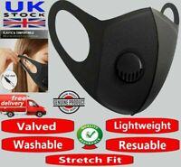 Washable Reusable Filter Face Mask Protective Covering Mouth Masks Black 3D UK