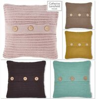Catherine Lansfield Chunky Knit Cushion Cover 5 Colours Available 45cm x 45cm