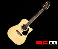 TAKAMINE EF400SC 12 STRING ACOUSTIC ELECTRIC GUITAR SOLID TOP+BACK CASE INCLUDED