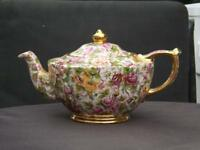 Sadler Chintz Rose 6 Cup Teapot 5110 Country Rose England Mint Condition