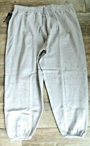 NEW Russell Pro-Cotton Fleece Sweatpants No Pockets - Heather Gray - 4XLT