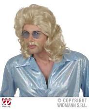 Blonde 70'S Mullet Wig & Moustache Fancy Dress Set Starsky & Hutch Cop