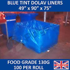 "Dolav Liners Blue Tint 49"" x 90"" x 75"""