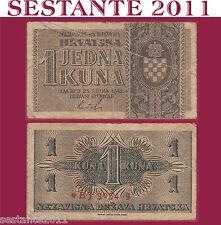 CROATIA / CROAZIA - 1 KUNA 1942 - P 7   -  BB / F