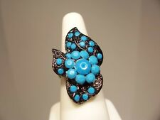 New,Bohemian Antique Style Ring,Turquoise classic look