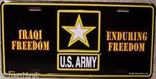 Aluminum Military License Plate Iraqi Freedom Army NEW