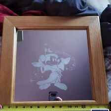 Fantasia decorative etched framed mirror
