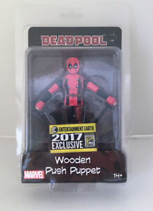 Entertainment Earth LE of 492 Deadpool Push Puppet Figure Toy New NOS MIP 2017