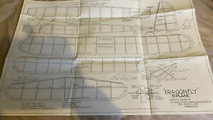 DRAGONFLY BIPLANE PLAN DESIGNED BY J.E. LEADBETTER THE MODEL AIRCRAFT STORES LTD
