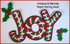 CHRISTMAS JOY title paper piecing Premade Scrapbook Pages album by Rhonda