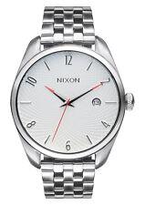 NIB Nixon Bullet SS Watch Silver White A418-100